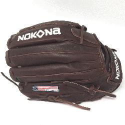 ite Fast Pitch Softball Glove 12.5 inches Chocolate lace. Nokona Elite performance r