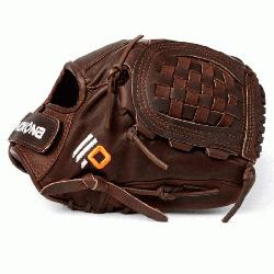 Fast Pitch Softball Glove Chocolate Lace. Nokona Elite performance ready for p