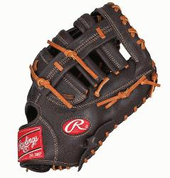 lings GXPFM18MO First Base Mitt 12.5 Inch Mocha Right Handed Throw  The Gamer XLE