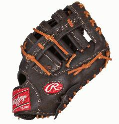 FM18MO First Base Mitt 12.5 Inch Mocha Right Handed Throw  The Gamer XLE series featur
