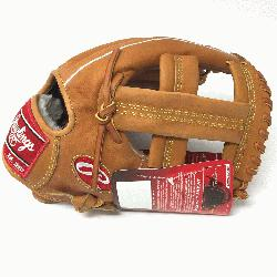 e Rawlings PROSPT Heart of the Hide Baseball Glove is 11.75 inch. Made with Horween C55 tanned