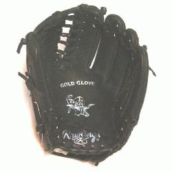 e Heart of the Hide Baseball Glove. 12 inch with Trapeze Web. Black Dry Horween Leather. Sil