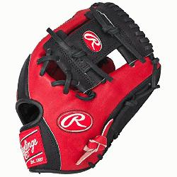 of the Hide Red Black Baseball Glove 11.5 inch PRO202S
