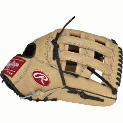 "e Hide 12.75"" baseball glove features a the PRO H Web pattern which was"