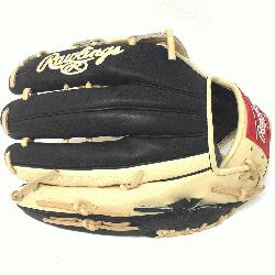 <p>Rawlings Heart of the Hide Camel and Black PRO3030 H Web with ope