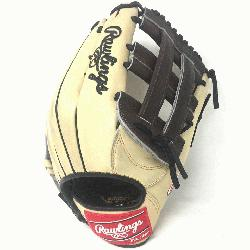 Rawlings Heart of the Hide 12.75 inch baseball glove. H Web. Open Back. Camel wit