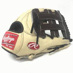 Rawlings Heart of the Hide 12.75 inch baseball glove. H Web. Open Back. Camel