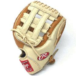 Heart of the Hide PRO314 11.5 inch. H Web. Camel and Tan leather. Op