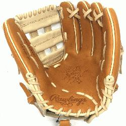 Heart of the Hide PRO314 11.5 inch. H Web. Camel and Tan leather.