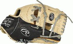 om the top of the line ultra-premium steer hide leather the Rawlings Heart of the