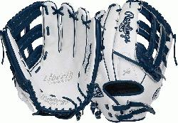 Color Series - White/Navy Colorway 13 Inch Slowpitch Model H Web Break-In 80% Factory / 20% Pl