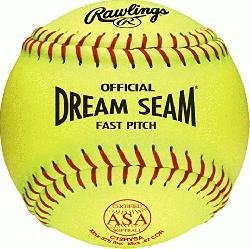 A SOFTBALL ASA NFHS approved fastpitch softball Yellow cover &am