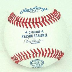 l Baseballs with KSHSAA Kansas Baseball N