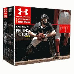 er Armour Senior PTH Victory Series Age 12-16 Catchers Gear Set Navy  Kit includes the