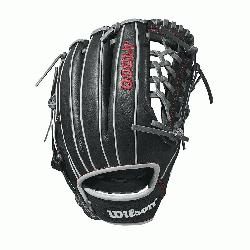 he 11.5 Wilson A1000 glove is made with a Pro laced T
