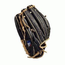 Baseball glove Made with pedroia fit for players with a smaller hand H-Web design Black and