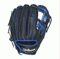 DP15 Royal Blue Accents - 11.5 Wilson A1K DP15 Blue Accents Infield Baseball GloveA1K DP15 11.5 In