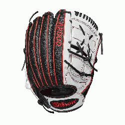 12.25 pitchers glove 2-piece web Black SuperSkin twice as strong as regular leathe