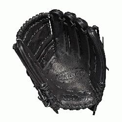 glove Pitcher WTA20RB19B125 Two-piece web Black Pro Stock leather preferred for it