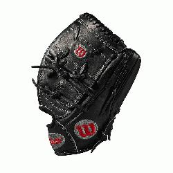 chers glove Pitcher WTA20RB19B125 Two-piece web Black Pro Stock leather preferred for i