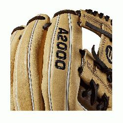 ; I-Web Double lacing at the base of the web Blonde/Dark Brown/White Pro Stock