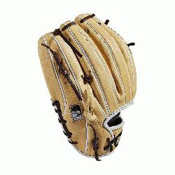 Infield model; I-Web Double lacing at the base of the web Blonde/Dark Brown/White