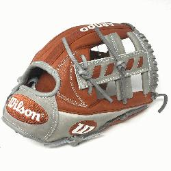 ball Glove of the month for May 2019. Single Post Web grey laces grey bi