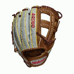 e WTA20RB19DP15GM for Dustin pedroia; Cross web Grey SuperSkin with saddle tan and