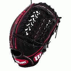 The black and red A2000 GG47 GM Baseball Glove fits Gio Gonzalezs