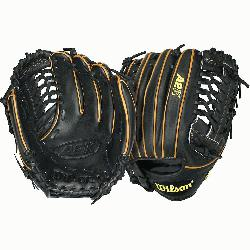 A2K BB4 CJW Pitcher Baseball Glove Black Tan 12 in Right Han