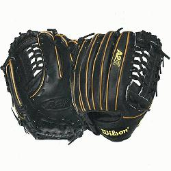 BB4 CJW Pitcher Baseball Glove Black Tan 12 in Right Handed T