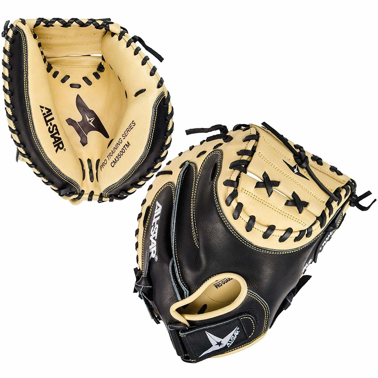 all-star-anvil-cm3500tm-adult-baseball-weighted-training-catchers-mitt-right-hand-throw CM3500TM-RightHandThrow All-Star 029343050930 33.5 Inch Catchers Training Model Closed web Designed for training purposes