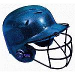 All-Star BH6100FFG Batting Helmet with Faceguard and Mettalic Flakes (Navy) : Metallic finished Cool Lids with Batter's Face Guard attached. High gloss and High impact polycarbonate shell. Meets Noscae standards.