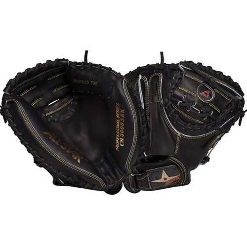 all-star-catchers-mitt-cm3000sbk-pro-33-5-inch-right-handed-throw CM3000SBK-Right Handed Throw Allstar 029343033919 Allstar Catchers Mitt CM3000SBK Pro 33.5 inch Right Handed Throw