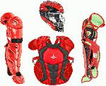 all star ckcc1216s7x tt sc bk s7 axis catchers set ages 12 16 scarlet black