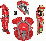 all star ckcc912s7xsc s7 axis catchers set ages 9 12 scarlet