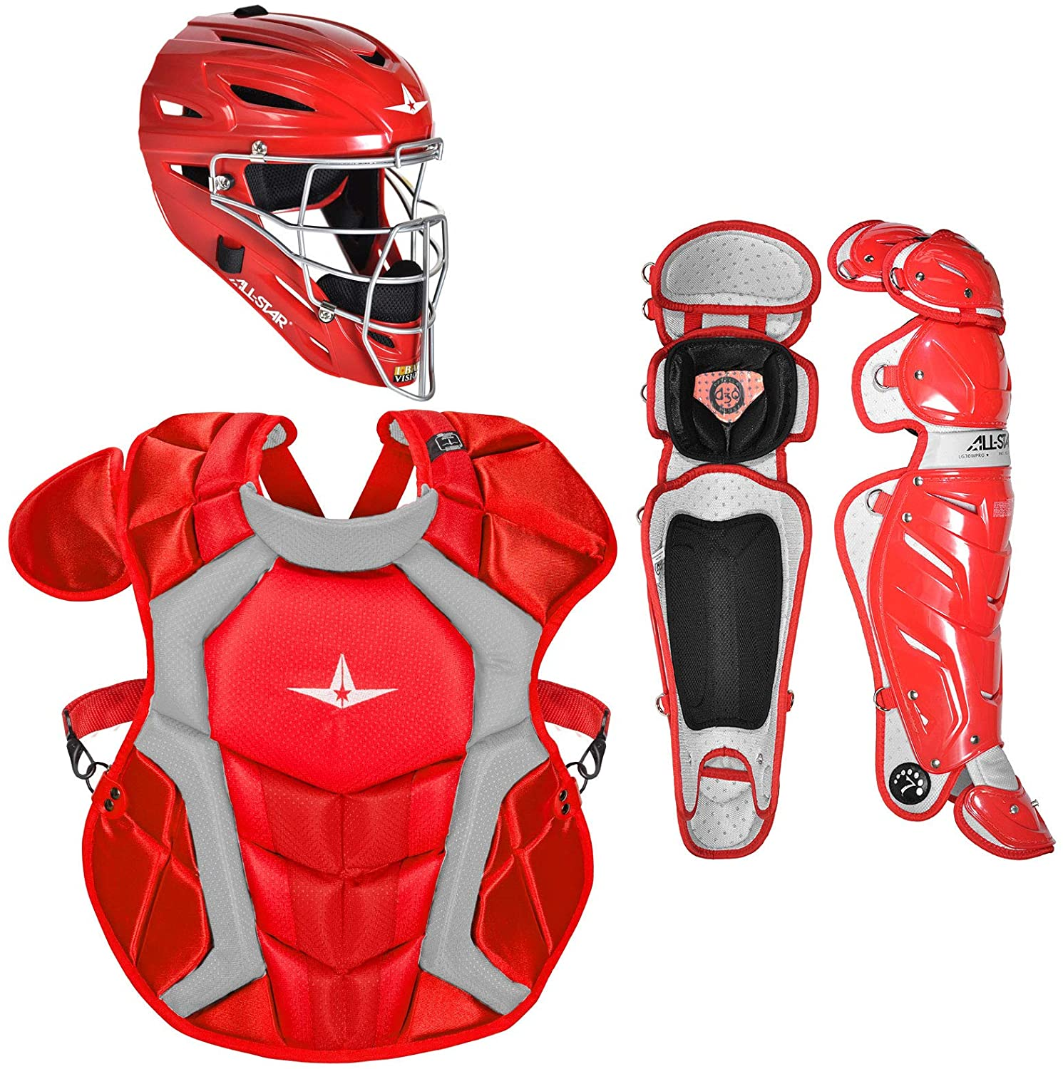 all-star-ckccpro1sc-certified-nocsae-professional-catchers-set-scarlet CKCCPRO1-SC   <span>Gear-up with the System Seven Pro baseball catchers package from All-Star