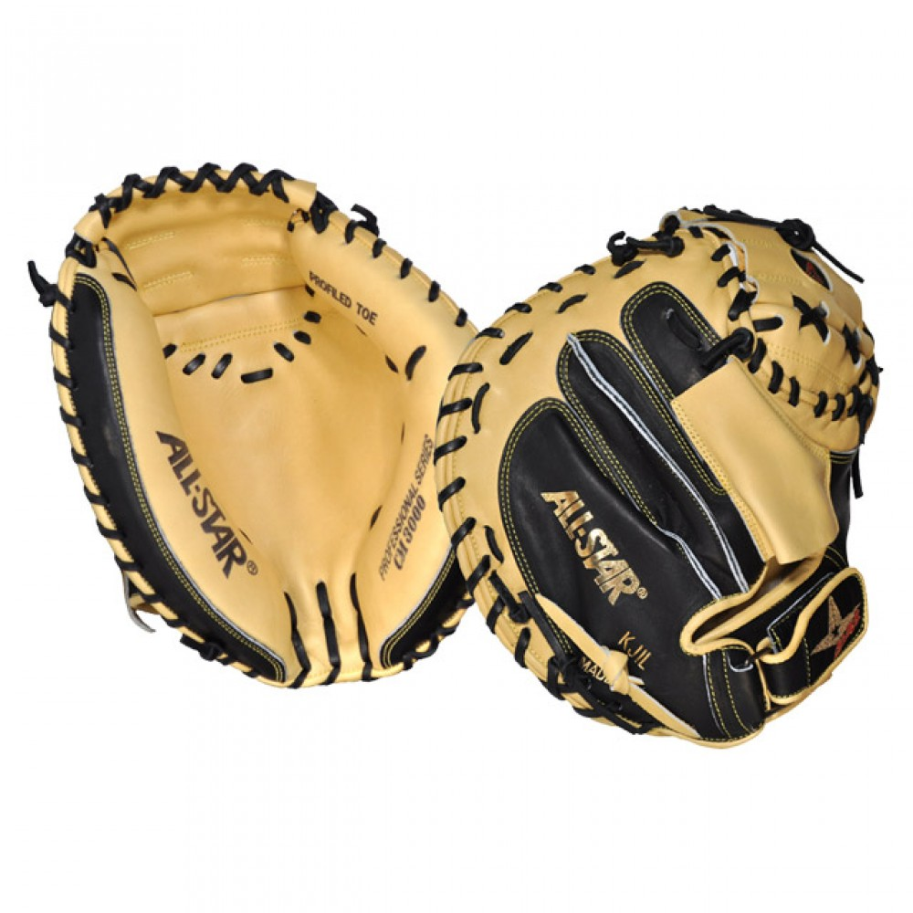 all-star-cm3000xsbt-31-5-baseball-catchers-mitt-pro-elite-right-hand-throw CM3000XSBT All-Star 029343032691 Open Back with Finger Hood and Velcro Wrist Strap Japanese Tanned