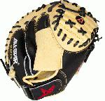 AllStar CM3100SBT Catchers Mitt BlackTan 33.5 inch (Right Handed Throw) : Premium oil softened Japanese tanned US steer hide Heavy duty rawhide laces Extended pockets with adjustable Velcro back closure Wrist protector attached 33 pattern