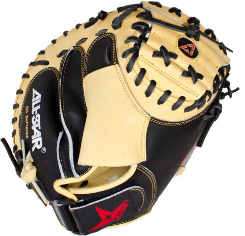 all-star-cm3100sbt-catchers-mitt-black-tan-33-5-inch-right-handed-throw CM3100SBT-Right Handed Throw All-Star 029343300967 AllStar CM3100SBT Catchers Mitt BlackTan 33.5 inch Right Handed Throw