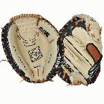 AllStar CM3200SBT 33.5 Catchers Mitt BlackTan (Left Handed Throw) : Allstar catchers mitt. The All Star commitment to innovation, advanced technology, outstanding craftsmanship and quality service keeps them at the forefront of the industry. No matter what level of ball you play, you need quality equipment and the All Star Professional Series delivers. This high performance line of mitts is designed for fast break-in and hard use. Equal to the top of the line of many other brands, these mitts feature selected premium tanned cowhide leather and US grade rawhide lacing for maximum strength and durability. This glove sports special contrasting index finger padding, Pro formed pocket, profiled toe and flex action which make this mitt not only a top performer, but a top value. So if you are a Pro or a Rookie, let All Star help revolutionize your game.