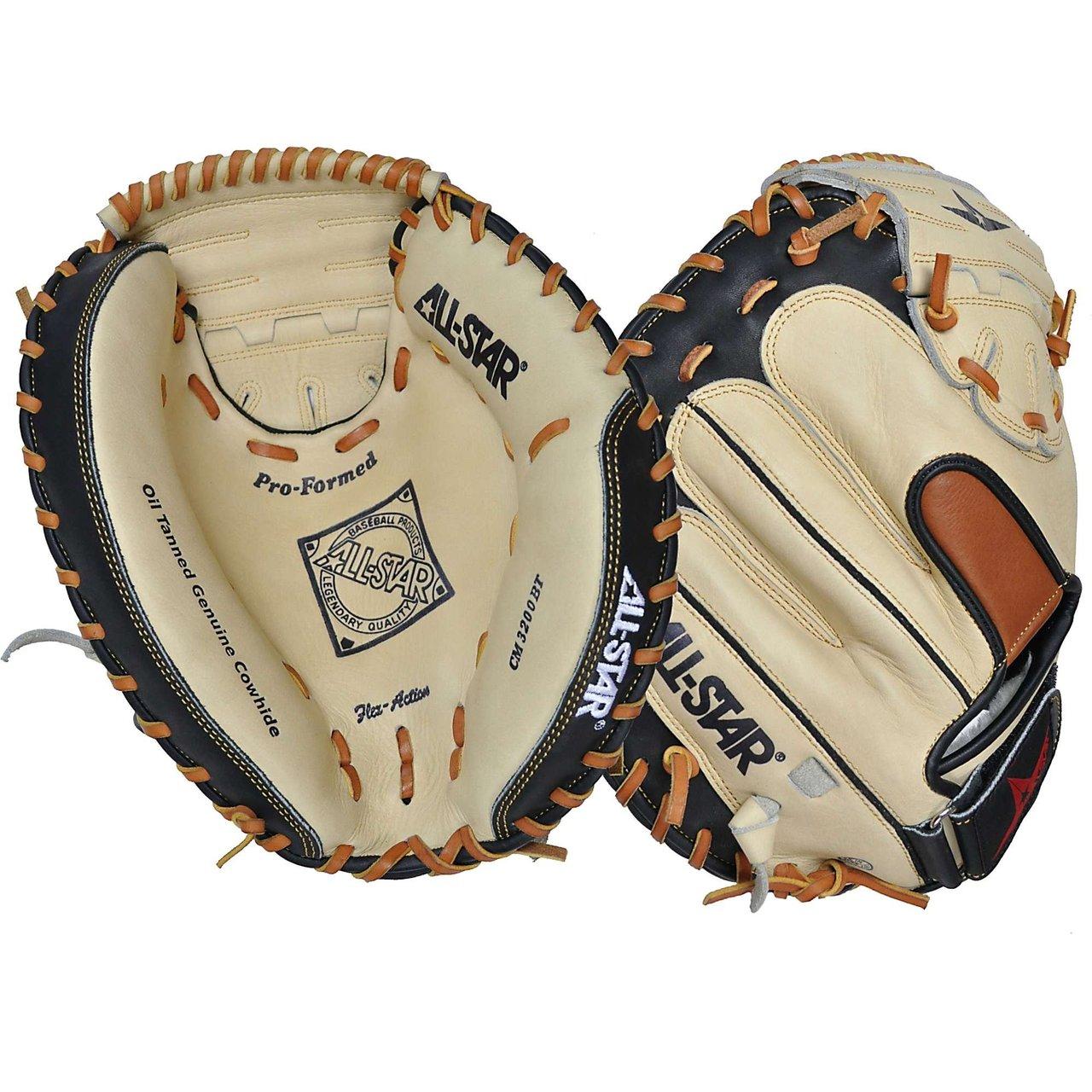all-star-cm3200sbt-33-5-catchers-mitt-black-tan-left-handed-throw CM3200SBT-Left Handed Throw All-Star 029343009013 AllStar CM3200SBT 33.5 Catchers Mitt BlackTan Left Handed Throw  Allstar
