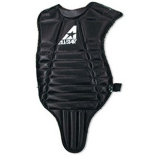 all-star-cp55-14-chest-protector-black CP55-Black All-Star 029343953019 Youth Baseball Chest Protector. Contoured neck collar. Fully adjustable y-back harness.