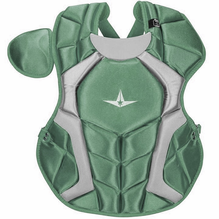 all-star-cpcc1618s7xdg-adult-system-seven-pro-chest-protector-dark-green CPCC1618S7X-DG All-Star  The S7™ Chest Protector is the only protector that has wedge