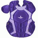 The S7™ Chest Protector is the only protector that has wedge shaped abs, which help knock a ball straight down when blocking. Designed to be light and thin, this chest protector has the absolute best fit and breathability compared to other chest protectors on the market. Players say it feels just like wearing a T-shirt! Internal moldable PE protective plates are inserted into the throat, collarbone, and sternum to keep those sensitive areas well protected. The longer you wear it, the more it will conform to a player's body. DeltaFlex Harness allows for maximum adjustability and comfort, fitting a wide range of body types. PRODUCT FEATURES Stainless steel matte black hardware Thinner and more form fitting DeltaFlex harness Improved break points which present a flatter surface for blocking and improving control. The chest protector should fit high, with the throat guard over the base of the neck. Equipped with the construction to pass the NOCSAE standard Adult: 16.5 All star chest protectors are measured from the top of the sternum (below the collar) to a player's navel