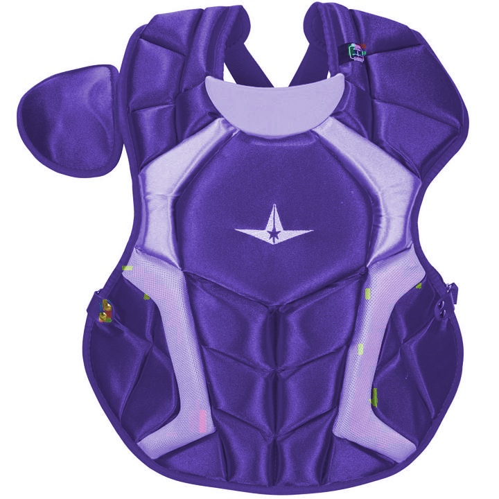 all-star-cpcc1618s7xpu-adult-system-seven-pro-chest-protector-purple CPCC1618S7X-PU All-Star  The S7™ Chest Protector is the only protector that has wedge