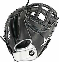 "This AF-Elite Series catcher's mitt is designed for advanced fastpitch catchers playing at an elite travel ball through college level. Its unique single hinge design allows the mitt to close naturally while maintaining a wide heel. For the player, the single hinge design increases the structure around the thumb, thus potentially minimizing impact on the thumb. Constructed with Japanese-tanned steer hide, this mitt will be stiff out of the box, but once broken in, it will maintain its shape and last for many seasons to come. Series: AF-Elite Age: Adult competitive Position: Catcher Web: 33.5"" H-Web Back: Open back with Velcro strap Leather: Japanese-tanned steer hide"