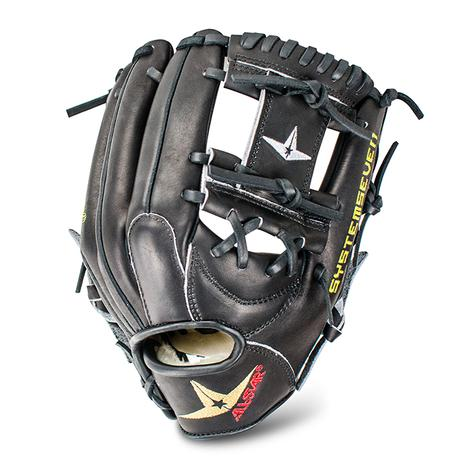 all-star-fgs7-ifbk-infield-baseball-glove-all-black-11-5-right-hand-throw FGS7-IFBK-20-RightHandThrow All-Star  For years All Stars catchers mitts and equipment have been highly