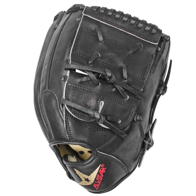 all-star-fgs7-pt2bk-black-12-inch-baseball-glove-right-hand-throw FGS7-PT2BK-RightHandThrow All-Star 029343045981 he All Star System7 FGS7-PT2BK 12 inch Baseball Glove keeps the