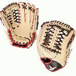 all star pro elite 11 75 baseball glove cream black scarlet right hand throw